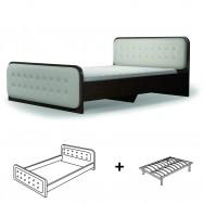 Кровать двуспальная Магия  1600х2000 лайт с ламелью