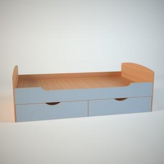 Кровать детская с ящиками 900х2000 НДМ СПУТНИК
