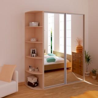 Шкаф-купе Версаль 1,6 зеркальный