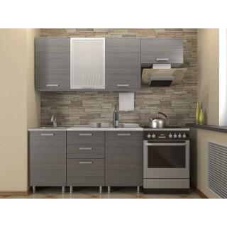 Кухонный гарнитур 1,5 КМ 121 Азалия с шкафом под вытяжку 600