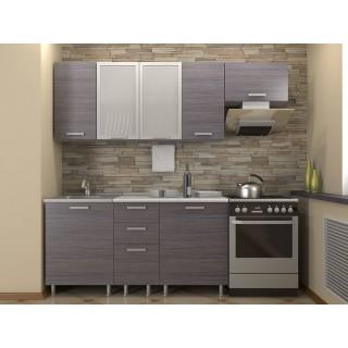 Кухонный гарнитур 1,6 КМ 132 Азалия с шкафом под вытяжку 500