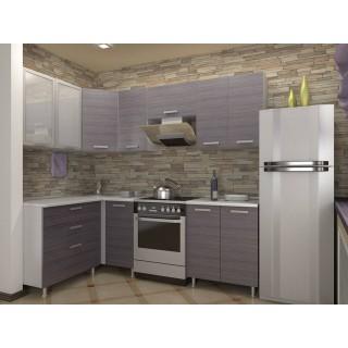 Кухонный гарнитур (1,4 х 1,7) (1,3 х 1,8) КМ 161 Азалия с шкафом под вытяжку 500