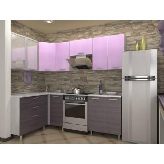 Кухонный гарнитур (1,4 х 1,7) (1,3 х 1,8) КМ 161 Азалия с шкафом под вытяжку 600